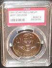 PSA 9 MINT 9 - Jeff George 1991 Kenner Starting Lineup Coins Indianapolis Colts
