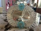 ELEGANT MURANO GLASS MIRROR WITH BLUE MILLEFIORI ACCENTS Valentines Day Gift