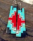 Native American Indian Jewelry Santo Domingo Pueblo Earrings with Turquoise