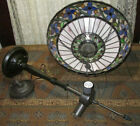 Tiffany Victorian Style Stained Cut Glass Inverted Pendant Ceiling Light Fixture