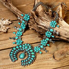 NWT Natural Squash Blossom Turquoise Southwestern Native Style Necklace P601