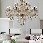 15Arm Chandelier K9 Crystal Glass Ceiling Light Pendant Lamp Living Room Bedroom
