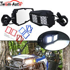 UTV Rear View Side Mirrors w LED Light For Polaris RZR PRO XP 15 2 Roll Cage
