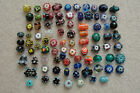 Hand Blown Glass Beads Assorted Colors Shapes Sizes Lot of 85