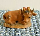 VINTAGE ANRI ITALY NATIVITY OX COW W BIRDS JUAN FERRANDIZ SIGNATURE 3 SERIES