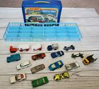 Vintage Matchbox carry Case Holds 24 With 15 Mixed Matchbox  Hot Wheels Cars