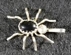 Native American Navajo Sterling Silver Spider Onyx Pendant 24 Chain NWOT
