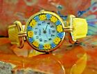Murano Glass Venice Quartz Watch with Italian Style Leather Band