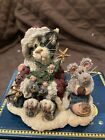 Boyds Bears Christmas Purrstone Cat Santa Claws & Nibbles...A Purrfect Holiday