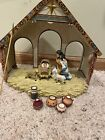 Hawthorne Village Nativity of the Christmas Star Set American Indian w Creche
