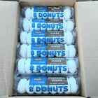Powdered Sugar Mini Donuts 96 Count Fresh Case Lot 12 packs of 8 Extra Mile