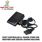 Foot Control Pedal With Power Cord Replacement For Brother Serger Sewing Machine