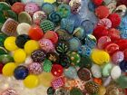 EXQUISITE Colorful Mixed Lot 220 Vintage Glass Diminutive Small Buttons