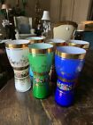 6 CASED GLASS 6 1 4 TUMBLERS DRINKING GLASSES Multi Colored