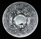 Lalique French Crystal Glass Pinson Pattern Large Centerpiece Fruit Bowl