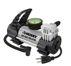 PORTABLE CAR AIR COMPRESSOR Husky Electric AC Outlet Compact Tire Pump Inflator