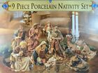9 Piece pc Nativity Scene Set Grandeur Noel 1999 Christmas w Box Complete