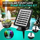 Solar Power Fountain Pool Water Pump Panel Garden Plants Watering Kit 180L h US