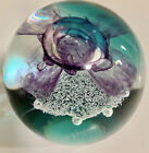 Gorgeous Caithness Glass Scotland Shimmering Planet Paperweight