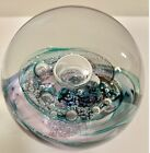 Magnificent Selkirk Scotland Twilight Art Glass Paperweight Signed 2001