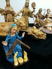 12 Vintage Nativity Christmas Manger Figures Made In Italy Mary Jesus Animals ++