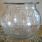 ANTIQUE GLASS THE NUT HOUSE BRAND PEANUT JAR LYNN MASS ORIGINAL MINUS LID NR