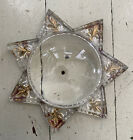 Vintage Antique Goofus Glass Star Photo Frame Paperweight Magnifier