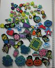 lot of chunky foam stamps animals flowers pumpkins birthday shapes