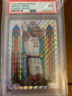 2019-20 Lebron James Stained Glass #3 Panini Mosaic PSA 9 Hobby box exclusive