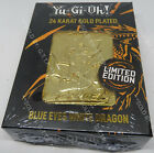 YUGIOH BLUE EYES WHITE DRAGON 24K GOLD PLATED COLLECTABLE LIMITED EDITION