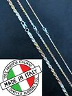 Solid 925 Sterling Silver  Yellow Rose Gold Tri Color Rope Chain Necklace 2 5mm