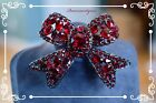 Chris Crouchs Moans Couture HighEnd Ruby Art Glass Bow 55 Pin