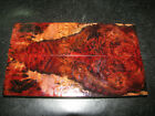NICE ACRYLIC STABILIZED DOUBLE DYED MAPLE BURL 5 7 16x1 9 16x7 16 KNIFE SCALES