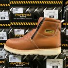 MENS WORK BOOTS GENUINE LEATHER ZIP UP OIL RESISTANT SOFT TOE LIGHTWEIGHT BOTAS