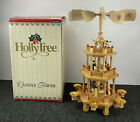 Holly Tree Candle Tower Christmas Wood 3 Tier Nativity Pyramid Carousel 6 CANDLE