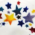 Peggy Karr Star Bowl Dish Fused Recycled Glass Artisan Signed Bright Colorful