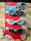 Speedo Adult Unisex 3 Pack Goggles FREE SHIPPING
