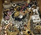 24+ LBS HUGE MIX VINTAGE NOW ESTATE JEWELRY LOT OF RHINESTONE GLASS SIGNED