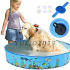 32 48 63 Kids Swimming Pool PVC Foldable Bathing Tub Pet Dog Water Pond Pool