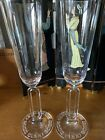 Riedel Collector Champagne Flute Glass Pair Millenium 2000 Lead Crystal