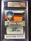 2012-13 CONNOR McDAVID LEAF IN THE GAME CERTIFIED AUTOGRAPH PATCH CARD #23 24🔥
