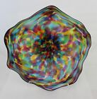 Hand Blown Glass Wall Platter Bowl multi color 1676 Oneil
