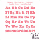 QuicKutz CAROUSEL Cookie Cutter Alphabet Dies with Upper Lower Number Punct