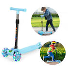 Outon Kick Scooter With 3 Flashing WheelsAdjustable Height Best Gifts For Kids