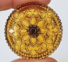 Beautiful Large Antique Amber Glass Button