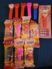 Pez Valentine's 13 New and used- usa pez, some rare without hearts on stem