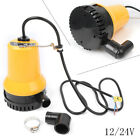 12V Submersible Water Pump 1620GPH 6000L H Clean Clear Dirty Pool Pond Flood