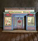 Lemax 1997 MEMORY MAKERS CHRISTMAS SHOP Facade VILLAGE Lighted House Model 77058