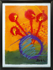 Dale Chihuly Original Orange Ikebana Drawing  Contemporary Acrylic Painting