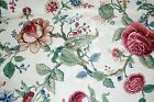 Waverly Montague Parchment Fabric 12+ Yards Natural Red Tan Green Blue Ivory